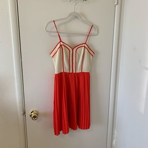 Urban Outfitters Red Pleated Dress size M